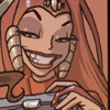 hunningham: Evil queen with extremely evil grin (Great big grin)