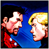 penumbren: Steve & Tony looking at each other (steve/tony)
