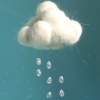 mmmag: A cotton cloud with drop shaped beads dangling below. (Default)