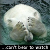 unixronin: Polar bear covering its eyes (Trainwreck)