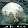 unixronin: Polar bear covering its eyes (Trainwreck)