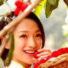 mercredigirl: Close-up of actress Zhou Xun smiling in a garden. (Zhou Xun smiling)
