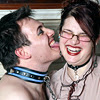josephine_marrs: a person wearing a collar licking the face of another person, who is laughing (pic#6421040)