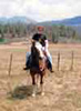 ayinhara: Levi is my horse. The icon shows me riding him in beautiful southwestern Colorado, which is where he lives. (Levi, me)
