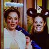 "tisifone: Paige Matthews and Piper Halliwell, ""Charmed"" (Halloween rodents and angels.)"
