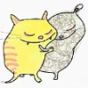 """katta: Two adorable creatures from Stina Wirsén's """"Vem"""" books (Vem?, feelings - loving)"""