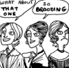 ohtheclevernessofme: from Kate Beaton's online comic; the Eyre sisters exclaim over dubiously attractive men (make them have a brood off!)