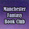 mcrfantasybc: Lavender text 'Manchester Fantasy Book Club' against a purple starry sky. (Default)