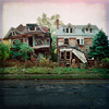 emclaughlin: An image of two decrepit abandoned houses. (Abandoned Houses)