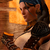 genusshrike: Isabela smirking as she drinks. (isabela)