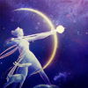alee_grrl: From Fantasia, Artemis with her moon-bow shooting a star arrow. (fantasia artemis with moon bow and star)