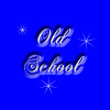 "onyxlynx: The words ""Old School"" in white on a blue background with three variable-pointed stars in white. (Old School)"