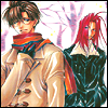 schattenstern: Hakkai and Goyjo from the manga Saiyuki, dressed for winter (Saiyuki - Spirit of Winter)