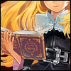 schattenstern: Lillet Blan from GrimGrimoire, holding one of the titular books (Grimoire - Bookish)