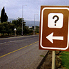 travelingdreamer: sign points to ? (unknown)