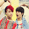 actionreaction: photo of ravi and n from vixx making a heart over their heads ([kpop] kings: jack and ace hearts)