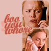"enamoured: ""I can't go out, I'm sick! COUGH COUGH"". Mean Girls. (boo you whore)"