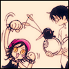 schattenstern: The cat girl from holic, playing with Watanuki and Mokona (xxxholic - Cat's Toy)