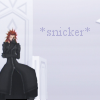 "theoriesontales: Axel laughing and the text ""snicker"" (Axel, lol)"