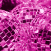 chalcopyrite: a group of bright pink mirrorballs (mirrorball)
