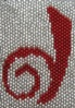 twisted_times: Dreamwidth logo  done with red stiching on greyish background. (DW)