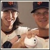 owlmoose: Picture of MLB pitchers Tim Lincecum and Matt Cain (baseball - pitchers)
