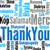 ninetydegrees: Text: Thank you in different languages (thanks)