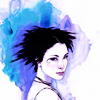 vorpal: Watercolor painting of the character Death from The Sandman comics by Neil Gaiman (Death)
