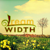 alee_grrl: the dreamwidth logo over a field of yellow flowers with blue sky and fluffy clouds in background. (dreamer)