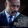 neverbelievedintheend: Closeup of Idris Elba in a dark blue suit, with the words 'PPDC MARSHAL STACKER PENTECOST' in the bottom right. (poster)