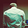 inspector_snuggles: Dr Hannibal Lecter's back, clad in a white shirt, in his kitchen. (hannibal, mads)