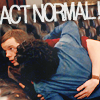 challyzatb: George and Mitchell rolling around on the couch. Captioned 'Act normal'. (actnormal)