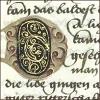 quillori: text with illuminated letter (stock: illuminated capital)