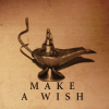 quillori: oil lamp, text reads: make a wish (comment: make a wish)