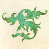 quillori: decorative element from a Flemish Psalter (stock: decorative leaf)