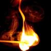 quillori: a lit match (subject: match, theme: fire (match))
