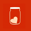 jenwryn: A heart in a jar, on a red background. (misc • love; heart in a jar)