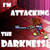 xenoglossy: (Kingdom Hearts // attacking the darkness)