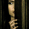 puzzlebox: elena peeking through a crack in doors (Default)