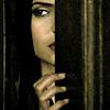puzzlebox: elena peeking through a crack in doors ([d])