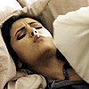 puzzlebox: elena making faces in bed (pouty face)