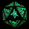 tablesaw: A twenty-sided die glows with the power of the Great Old Ones. (Cthulhu Icosahedron)