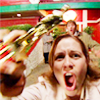 meredith: The award-winning Pam Beesly, so drunk. (I feel God in this Chili's tonight!)