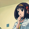 meredith: Haruhi S., CONTEMPLATING.  (star of her own mystery)
