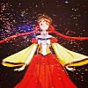mireia: Princess Kakyuu from Sailor Moon, against a black sky and stars. (Sailor Moon - Princess Kakyuu)