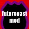 "futurepast_mod: A stylized background that resembles Magneto's helmet, with text ""futurepast_mod"". (Default)"