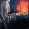 januar: Howl holding Calcifer from anime version of Howl's Moving Castle ([hmc] howl and cal)