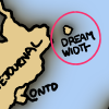 cynthia1960: Detail of XKCD's map of the internet showing DW as a small island off of the coast of LJ  (Dreamwidth Island)