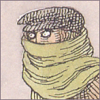 quillori: Gorey illustration of a man, face muffled by a scarf (mood: incognito)
