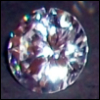 redsixwing: Cubic zirconia on black background (zirconia)